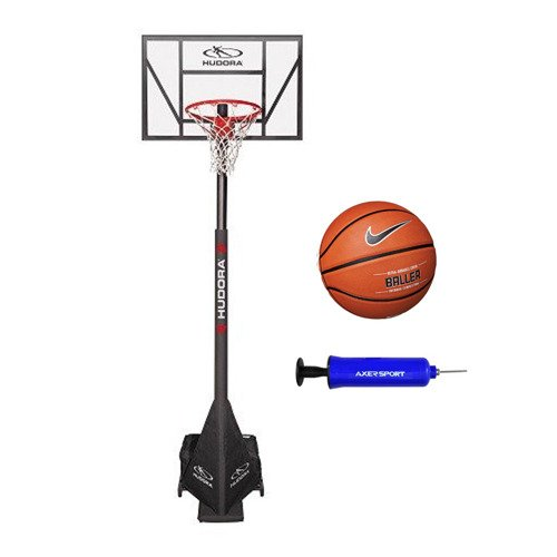 Basketball set Hudora Competition Pro + Nike Baller 8P + Pump