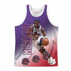 Mitchell & Ness NBA Behind The Back Tank Toronto Raptors - Tracy McGrady - MSTKMI19002-TRAWHITTMC