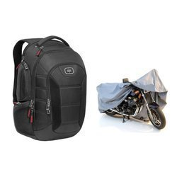 Ogio Bandit Black Backpack - 111074-03 + Motorcycle Cover