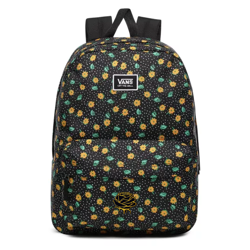 Vans Realm Classic Polka Ditsy Backpack Custom Gold Rose - VN0A3UI7VCY