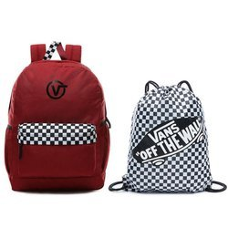Vans Sporty Realm Plus Biking Red Backpack VN0A3PBITV1 + Benched Bag