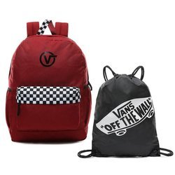 Vans Sporty Realm Plus Biking Red Backpack - VN0A3PBITV1 + Benched Bag