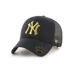 47 Brand MLB NY Yankees Trucker Snapback - B-BRMTL17CTP-BK Custom Crown
