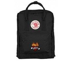 Backpack Fjallraven Kanken Black CLASSIC 16 L Custom Love Forever
