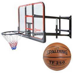 Basketball Backboard MASTER 140 x 80 cm + Spalding TF-250 Indoor/Outdoor