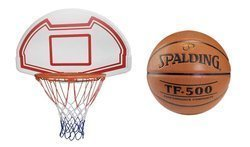 Basketball Backboard MASTER 90 x 60 cm + Spalding TF-500 Basketball