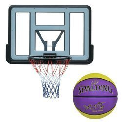 Basketball backboard MASTER 110 x 75 cm Acryl + Spalding NBA Kobe Bryant Los Angeles Lakers Dogbone Ball