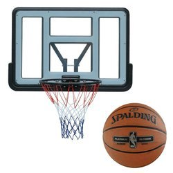 Basketball backboard MASTER 110 x 75 cm Acryl + Spalding NBA Platinum Streetball Outdoor