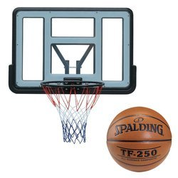 Basketball backboard MASTER 110 x 75 cm Acryl + Spalding TF-250 Indoor/Outdoor