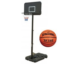 Basketball set Black 305 cm + Spalding Basketball TF-150