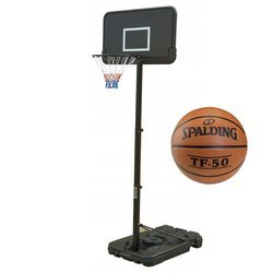 Basketball set Black 305 cm + Spalding Basketball TF-50
