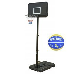 Basketball set Black 305 cm + Spalding Golden State Basketball