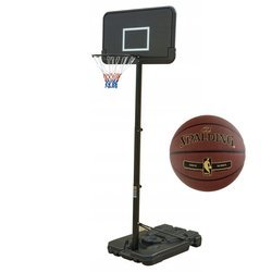 Basketball set Black 305 cm + Spalding NBA Tack Soft Gold