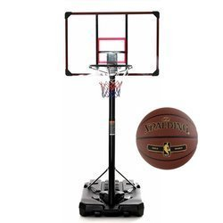 Basketball set DELUX 305 cm + Spalding NBA Tack Soft Gold