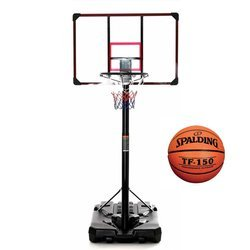 Basketball set DELUX 305 cm + Spalding TF-150 Basketball