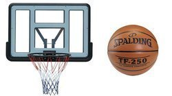 Basketball set Spartan Wall Mounted Backboard + Spalding TF-250