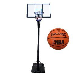 Basketball set TOP 305 cm + Spalding NBA Logo Basketball outdoor