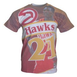 City Pride M&N Tee Atlanta Hawks Dominique Wilkins T-shirt - BMTRKT18007-AHARED1DWI