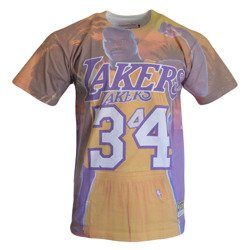 City Pride M&N Tee Los Angeles Lakers Shaquille O'Neal T-shirt - BMTRKT18007-LALPURPSON