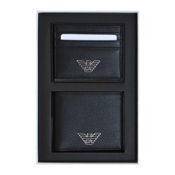 Emporio Armani Set Wallet&CardHolder Man Black - Y4R237 YLA0E