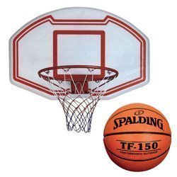 Enero Basketball Backboard + Spalding Ball TF-150