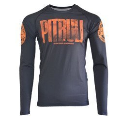 Long Sleeve PITBULL RASH ORANGE DOG