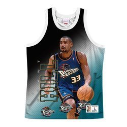 Mitchell & Ness NBA Behind The Back Tank Detroit Pistons - Grant Hill - MSTKMI19002-DPIWHITGHI