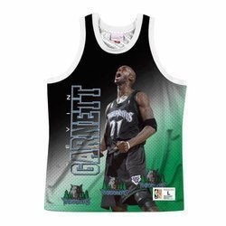 Mitchell & Ness NBA Behind The Back Tank Minnesota Timberwolves - Kevin Garnett - MSTKMI19002-MTIWHITKGA