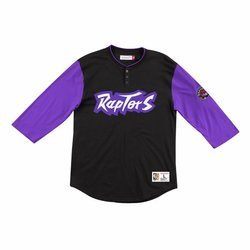 Mitchell & Ness NBA Longsleeve Frenchise Player Henley Toronto Raptors - HENLAJ19006-TRABLCK