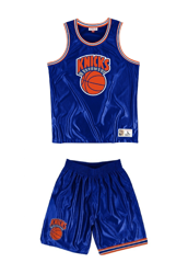 Mitchell & Ness NBA New York Knicks Dazzle Tank Top - MSTKDF18015-NYKROYA1