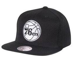 Mitchell & Ness NBA Philadelphia 76ers Black & White Snapback