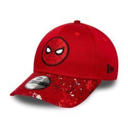New Era 9FORTY Spiderman Splatter Visor Kids Red Cap - 12285410