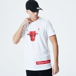 New Era NBA Chicago Bulls Wordmark Block T-Shirt - 12195402