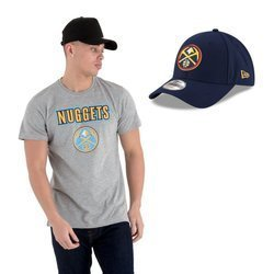New Era NBA Denver Nuggets T-shirt + Strapback