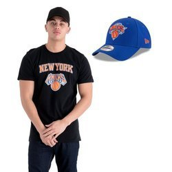 New Era NBA New York Knicks T-shirt + Strapback
