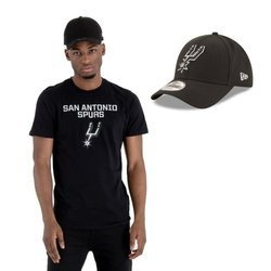 New Era NBA San Antonio Spurs T-shirt + Strapback