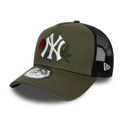 New Era New York Yankees Twine Green Trucker Cap - 12134871