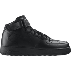 Nike Air Force 1 Mid All Black Shoes - 315123-001