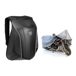 Ogio Mach S Motorcycle Backpack Stealth + Motorcycle Cover