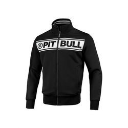 Pit Bull West Coast Oldschool Chest Logo Black Off White Full Zip Sweat - 149301900