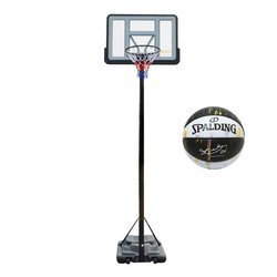 Portable Basketball stand MASTER Area 305 - MASSPSB-21 + Spalding Ball