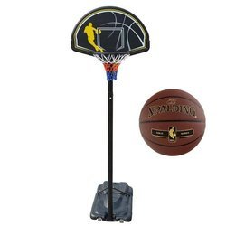 Portable Basketball stand MASTER Street + Spalding NBA Tack Soft Gold