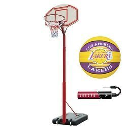 Portable basketball stand MASTER Attack 260 + Spalding LAL + pump