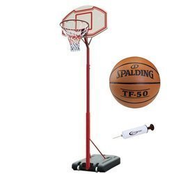 Portable basketball stand MASTER Attack 260 + Spalding TF-50 + pump
