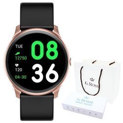 Smartwatch Gino Rossi SMS FB SW010-6 pink r.gold/black