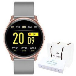 Smartwatch Gino Rossi SMS FB SW010-8 pink r.gold/gray