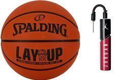 Spalding LAYUP Basketball + Air Jordan Essential Ball Pump
