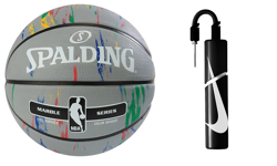 Spalding NBA Basketball Marble Series  + pump Nike Essential