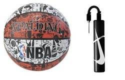 Spalding NBA Graffiti USA + Nike Essential Dual Action Ball Pump