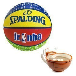 Spalding NBA Junior Basketball + MAX'IS Creations Cup - Basketball The Mug With A Hoop